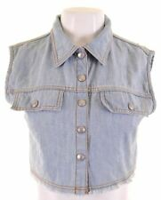 DKNY Girls Denim Waistcoat 15-16 Years Blue Cotton  GG25
