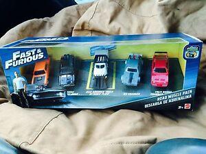 2017 Mattel Fast & Furious set of 5 Cars 1:55 NIP NEW road muscle off road ICE