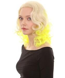Two Tone Rock Star Celebrity Yellow Wig HW-2215
