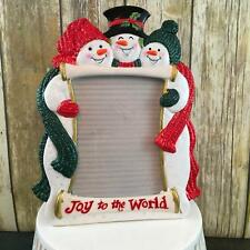Fitz and Floyd Snowman Picture Frame 5 x 7 Christmas Snowman Frame Retired 2005