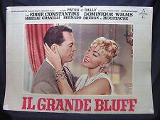 FOTOBUSTA CINEMA - IL GRANDE BLUFF - EDDIE CONSTANTINE - 1957 - AVVENTURA - 04