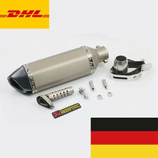 Universal 36-51mm Motorrad Carbon/INOX Auspuff Schalldämpfer Exhaust Muffler