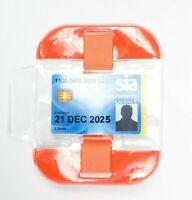 Orange High Visibility Security SIA Doorman Bouncer Armband ID Badge Holder