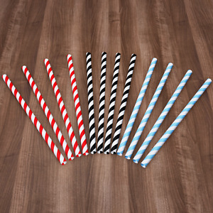 1-500 Paper Straws Biodegradable Birthday Anniversary Summer Party Cold Drink