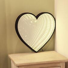 40CM INDOOR BEDROOM PLUG IN LOVE HEART INFINITY MIRROR CHRISTMAS 96 LED LIGHT