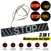 Motorcycle LED Tail Brake Stop Turn Signal Running Strip Plate Light  F F