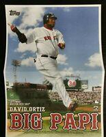 2020 Topps Archives David Ortiz Box Topper Nickname Mini Poster Big Papi Red Sox