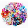 4/8x Hair Scrunchies Shiny Metallic Hair Bands Scrunchy Hair Ties Ropes Hairband