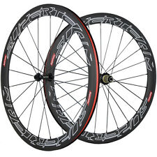Superteam 50mm Clincher Road Bike/Bicycle wheels 23mm Width Carbon Wheelset