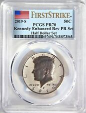 2019 S Apollo 11 Kennedy 50¢ Enhanced Reverse Proof PCGS PF70 First Strike