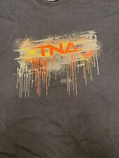 TNA Impact Wrestling LOGO Black Size XL T-Shirt Gildan Shirt Red