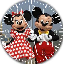 Disney Mickey Minnie Frameless Borderless Wall Clock For Gifts or Decor E116