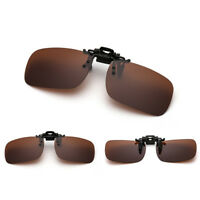 Sunglasses UV400 Polarized Clip On Flip-up Driving Glasses Day Night Vision Lens