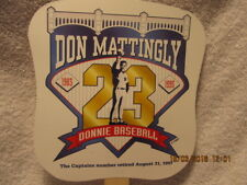 Hand Fan Celebrates Yankees' Retiring Don Mattingly's Number 1997 Yankee Stadium