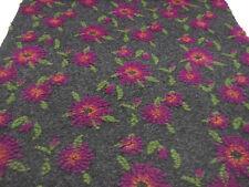 Stoff Ital. Musterwalk Kochwolle Walk Relief Blumen grau pink grün orange Mantel