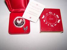"""Australien Lunar1 Rooster """"Jahr des Hahn"""" 2005 PP 1Oz Silber inkl.Etui +Zertif.!"""