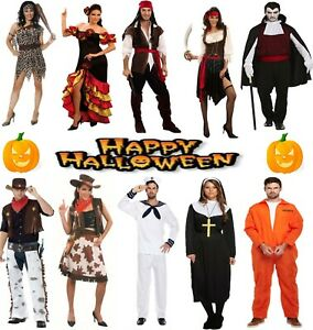 Halloween Costumes Adults Mens Womens Fancy Dress Party Dress Up pirate nun cape