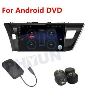 TPMS USB Car Tire Pressure Alarm System Kit + 4 Sensor For Android Video Player