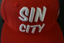 HNRS SIN CITY RED SNAP BACK SNAPBACK HAT CAP! hnrs usa sin f&%$ing city