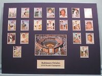 Baltimore Orioles led by Frank & Brooks Robinson win the 1970 World Series