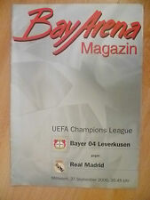 Bay Arena Magazine 2000- UEFA Champions League:BAYER 04 LEVERKUSEN v REAL MADRID