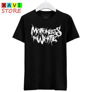 Motionless In White Band Logo Men's Black Tees T-Shirt Size S-3XL