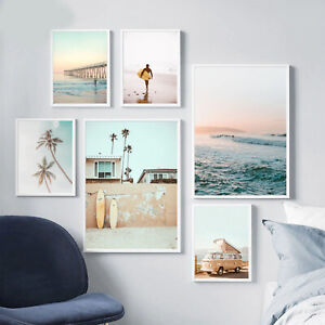 Modern Summer art poster wall art-stickes-gift-picture-printing canvas home deco