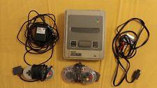 1x Pal Snes Super Nintendo Konsole Netzteil 2 Controller + 10 Spiele Super Mario