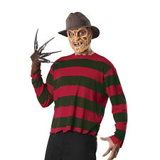 Freddy Krueger Nightmare Elm Street Mens Costume Kit Has Shirt Hat Glove Mask