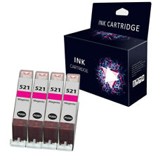 4 Magenta Ink Cartridges For Canon CLI-521 MP540 MP550 MP560 MP620 MP630 MP640