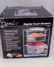 Complete in Box EUC Clean Working Deni Versatile 3 Tier Digital Food Steamer