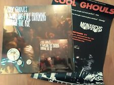 COOL GHOULS-SWIRLING FIRE... LP/CD(EMPTY CELLAR)GIG POSTER/3 BADGES