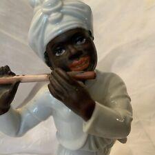 Vintage Rosenthal Selb Plossberg Blackamoor Hugo Meisel ,Flute Player 1953 Mark