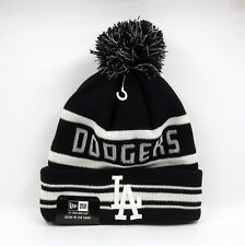 New Era Men's MLB LA Dodgers Fashion Jake Bobble Knit Beanie Hat - One Size