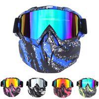 Winter Sport Goggles Face Mask Cover Snowmobile Ski Snowboard Eyewear Glasses