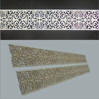 4 lfdm Dekorpaneele Bordüre in 3mm-Sperrholz mit Ornament Slimania - 10 cm breit