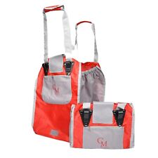 CarryMore Set of 2 Reusable Shopping Bags - Red with Gray - Limited Quantity!