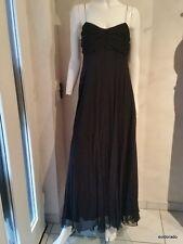 RALPH LAUREN Robe de soiree en soie noir taille 8/38 ** EIE Euro 395,00*neu