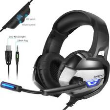 3.5mm Gaming Headset Mic LED Headphones for PC Mac Laptop Ps4 Slim Xbox One