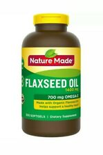 BRAND NEW Nature Made Flaxseed Oil 1400 mg. Omega 3-6-9, 300 Softgels SUPER SIZE