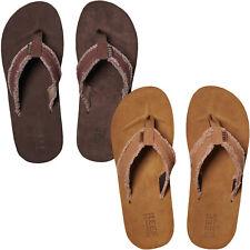 Reef Mens Cushion Fray Holiday Beach Summer Flip Flops Sandals - Brown - 9