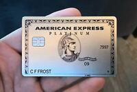 American Express Centurion Business Card Platinum Metal AMEX Titanium NOT ACTIVE