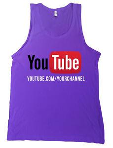 YouTube Channel CUSTOM URL Shirt Bella + Canvas Tank Top - MANY COLORS