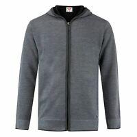 Lee Cooper Mens Seal Knit Hooded Sweater Full Zip Jumper Pullover Elasticated