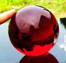 Asia's rare glass crystal healing magic ball 40 mm + red ball