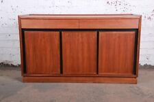 Merton Gershun for Dillingham Mid-Century Modern Walnut Sideboard Credenza