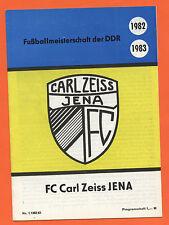 Orig.PRG / Jahresheft    FC CARL ZEISS JENA - Saison 1982/83  !!  SEHR SELTEN