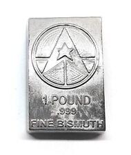 Lingot une Livre de BISMUTH pur 999 / One Pound Fine BISMUTH 999 Poured Bar