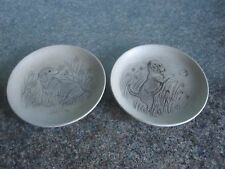Poole Pottery - Two Plates - Puppies