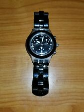 Swatch Full Blooded Night SVCK4035 2007 Irony Diaphane 43mm Aluminum New Battery